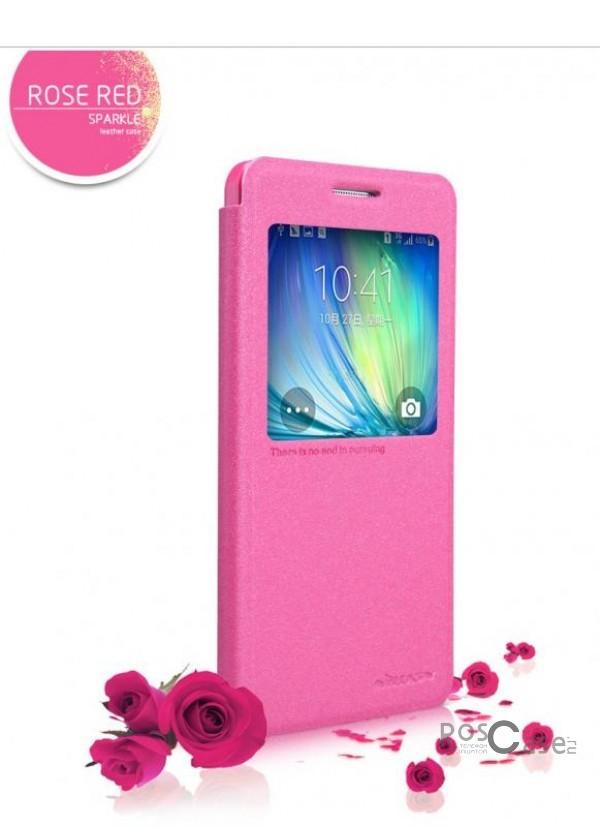 Кожаный чехол (книжка) Nillkin Sparkle Series для Samsung A500H / A500F Galaxy A5  (Розовый)Описание:Изготовлен компанией&amp;nbsp;Nillkin;Спроектирован персонально для Samsung A500H / A500F Galaxy A5;Материал: синтетическая высококачественная кожа и полиуретан;Форма: чехол в виде книжки.Особенности:Исключается появление царапин и возникновение потертостей;Восхитительная амортизация при любом ударе;Фактурная поверхность;Элегантное интерактивное окошко Smart window;Не подвержен деформации;Функция Sleep mode.<br><br>Тип: Чехол<br>Бренд: Nillkin<br>Материал: Искусственная кожа