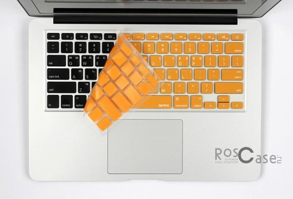 Фото силиконовой накладки Befine на клавиатуру для Apple MacBook Air 13 / 15 retina - цвет розовый