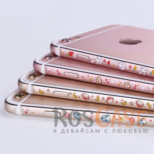Женский металлический бампер с рисунком милых зверушек Lofter Cutie для Apple iPhone 7 plus / 8 plus (5.5) (Пингвин)<br><br>Тип: Чехол<br>Бренд: Epik<br>Материал: Металл