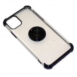 Deen CrystalRing | Прозрачный TPU чехол с кольцом под магнитный держатель  для iPhone 11 Pro