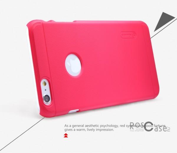 "Фотография Красный Nillkin Super Frosted Shield | Матовый чехол для Apple iPhone 6 plus (5.5"")  / 6s plus (5.5"") (+ пленка)"