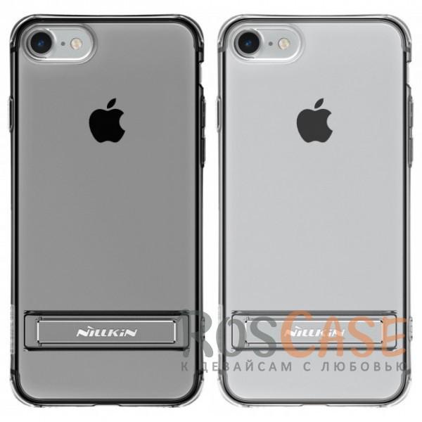 Прозрачный силиконовый чехол Nillkin Crashproof 2 с подставкой и усиленной защитой углов для Apple iPhone 7 / 8 (4.7)Описание:компания  - &amp;nbsp;Nillkin;совместим с Apple iPhone 7 / 8 (4.7);материал  -  термополиуретан;формат  -  накладка.&amp;nbsp;Особенности:выступы над экраном и камерой;ударопрочный;функция подставки;защита от ударов, пыли и царапин;прозрачный.<br><br>Тип: Чехол<br>Бренд: Nillkin<br>Материал: TPU