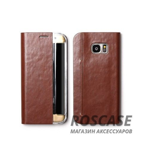 Кожаный чехол Zenus Masstige Basic Diary для Samsung G935F Galaxy S7 Edge (Коричневый)Описание:производитель  - &amp;nbsp;Zenus;совместим с&amp;nbsp;Samsung G935F Galaxy S7 Edge;материал  -  искусственная кожа, поликарбонат;форма  -  чехол-книжка.&amp;nbsp;Особенности:стильный дизайн;пластиковая вставка в обложке;окошко для вызова функций;в наличии все функциональные вырезы;не скользит в руках;тонкий дизайн;защищает от ударов и царапин.<br><br>Тип: Чехол<br>Бренд: Zenus<br>Материал: Искусственная кожа