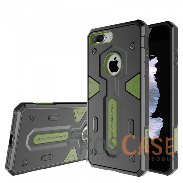 TPU+PC чехол Nillkin Defender 2 для Apple iPhone 7 plus (5.5) (Зеленый)Описание:производитель  - &amp;nbsp;Nillkin;совместим с Apple iPhone 7 plus (5.5);материал  -  термополиуретан, поликарбонат;тип  -  накладка.&amp;nbsp;Особенности:в наличии все вырезы;противоударный;стильный дизайн;надежно фиксируется;защита от повреждений.<br><br>Тип: Чехол<br>Бренд: Nillkin<br>Материал: TPU