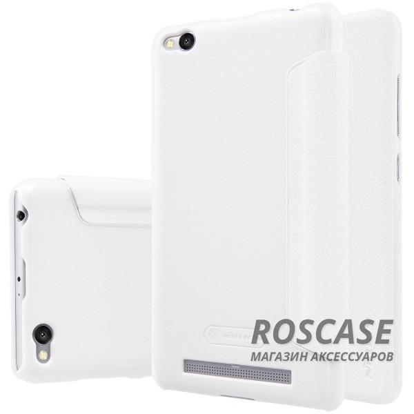 Кожаный чехол (книжка) Nillkin Sparkle Series для Xiaomi Redmi 3 (Белый)Описание:компания -&amp;nbsp;Nillkin;разработан для Xiaomi Redmi 3;материалы  -  синтетическая кожа, поликарбонат;форма  -  чехол-книжка.&amp;nbsp;Особенности:защищает со всех сторон;имеет все необходимые вырезы;легко чистится;не увеличивает габариты;защищает от ударов и царапин;морозоустойчивый.<br><br>Тип: Чехол<br>Бренд: Nillkin<br>Материал: Искусственная кожа