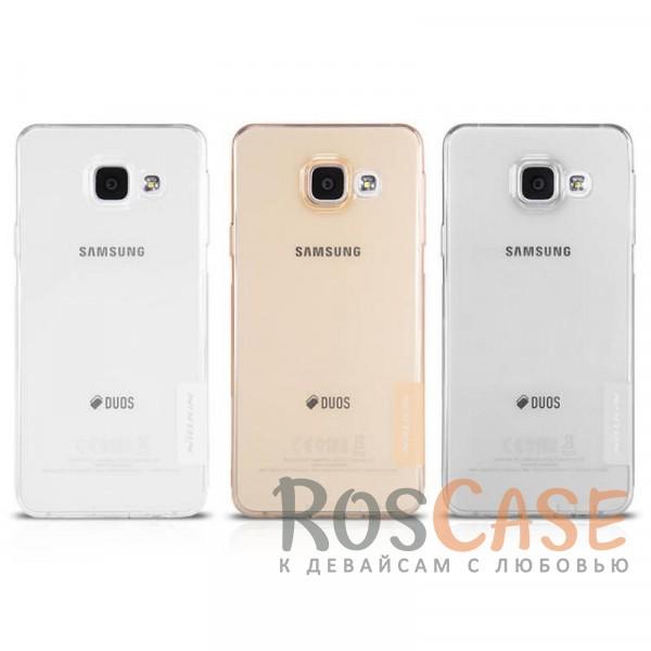 Мягкий прозрачный силиконовый чехол Nillkin Nature для Samsung A510F Galaxy A5 (2016)Описание:производитель  -  бренд&amp;nbsp;Nillkin;совместим с Samsung A510F Galaxy A5 (2016);материал  -  термополиуретан;тип  -  накладка.&amp;nbsp;Особенности:в наличии все вырезы;не скользит в руках;тонкий дизайн;защита от ударов и царапин;прозрачный.<br><br>Тип: Чехол<br>Бренд: Nillkin<br>Материал: TPU