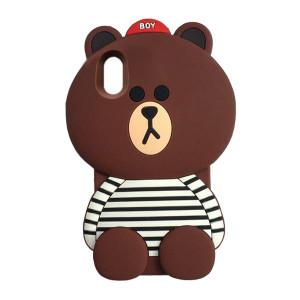 Большой силиконовый чехол-игрушка медведь Тедди  для iPhone X