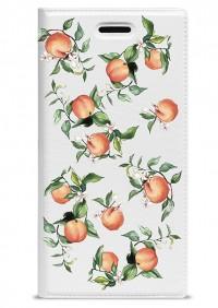 "Яркий чехол-книжка с рисунком персиков Gresso ""Лимонад-персики"" для Huawei Enjoy 5S"
