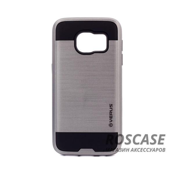 Двухслойный ударопрочный чехол с защитными бортами экрана Verge для Samsung G930F Galaxy S7 (Серый)Описание:бренд - Verge;разработан для&amp;nbsp;Samsung G930F Galaxy S7;материал - термополиуретан, поликарбонат;тип - накладка.&amp;nbsp;Особенности:защита от ударов;не препятствует работе со смартфоном;не скользит в руках;высокие бортики защищают экран;надежное крепление;укрепленная конструкция.<br><br>Тип: Чехол<br>Бренд: Epik<br>Материал: TPU