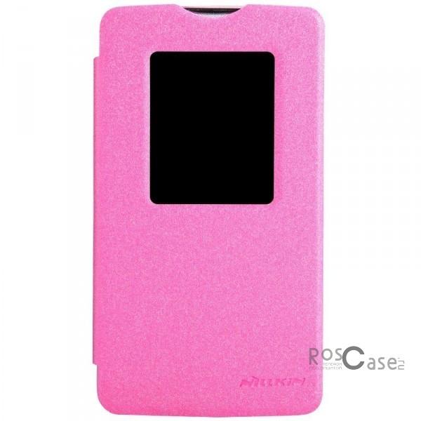 Кожаный чехол (книжка) Nillkin Sparkle Series для LG D380 L80 Dual (Розовый)Описание:разработчик и производитель  -  Nillkin;изготовлен из поликарбоната и синтетической кожи;поверхность кожи фактурная;конструкция  -  чехол-книжка;совместим с LG D380 L80 Dual.&amp;nbsp;Особенности:внутри отделан микрофиброй;ультратонкий;морозоустойчивый;яркая гамма цветов.имеет хорошее сцепление;легкая фиксация на гаджет;очищается легко.<br><br>Тип: Чехол<br>Бренд: Nillkin<br>Материал: Натуральная кожа