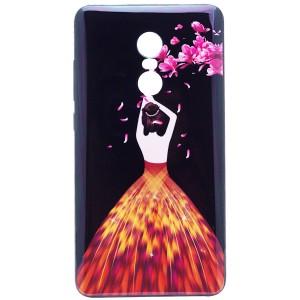 Magic Girl | Глянцевый чехол с элегантным принтом и стразами для Xiaomi Redmi Note 4X / Note 4 (Snapdragon)