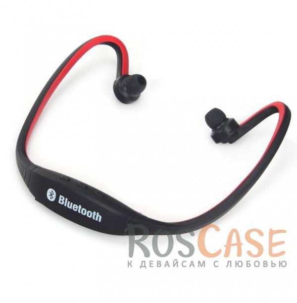 Спортивные беспроводные наушники bluetooth с микрофоном (ZK-S9) (слот для microSD) (Красный)Описание:универсальная совместимость;тип подключения - bluetooth;тип  -  вакуумные беспроводные наушники.&amp;nbsp;Особенности:функция hands free;слот для карты памяти;чувствительность  -  80 Дб;частотный отклик  -  2.402~2.480&amp;nbsp;ГГц;беспроводные;время работы в режиме воспроизведения музыки  -  4-6 часов;время зарядки  -  2 часа;удобное крепление.<br><br>Тип: Наушники/Гарнитуры<br>Бренд: Epik