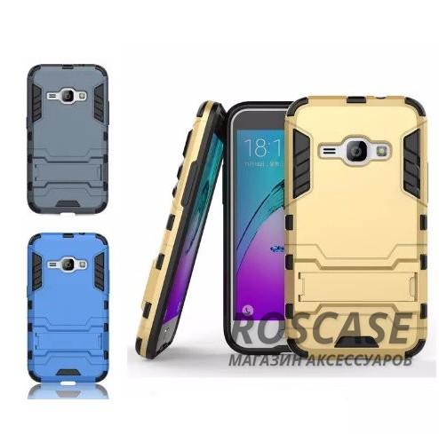 Ударопрочный чехол-подставка Transformer для Samsung J120F Galaxy J1 (2016) с мощной защитой корпусаОписание:подходит для Samsung J120F Galaxy J1 (2016);материалы: термополиуретан, поликарбонат;формат: накладка.&amp;nbsp;Особенности:функциональные вырезы;функция подставки;двойная степень защиты;защита от механических повреждений;не скользит в руках.<br><br>Тип: Чехол<br>Бренд: Epik<br>Материал: TPU