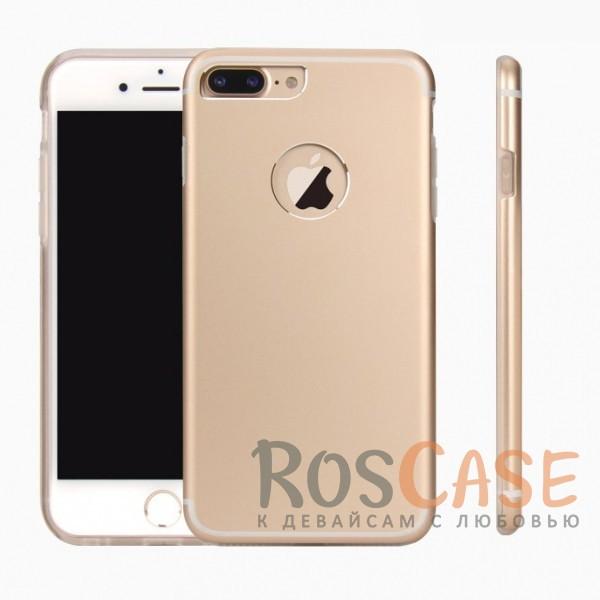 Ультратонкий TPU чехол c металлическими вставками YED для Apple iPhone 7 plus (5.5) (Золотой)<br><br>Тип: Чехол<br>Бренд: Epik<br>Материал: Металл