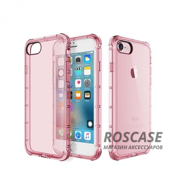 TPU чехол ROCK Fence series для Apple iPhone 7 plus (5.5) (Розовый / Transparent pink)Описание:производитель  -  Rock;полностью совместим с Apple iPhone 7 plus (5.5);изготовлен из термопластичного полиуретана;имеет форму накладки.Особенности:износостойкий чехол, пыленепроницаемый;гибкий и эластичный, легко снимается и одевается;не склонен к деформированию и выцветанию;точно копирует форму устройства.<br><br>Тип: Чехол<br>Бренд: ROCK<br>Материал: TPU