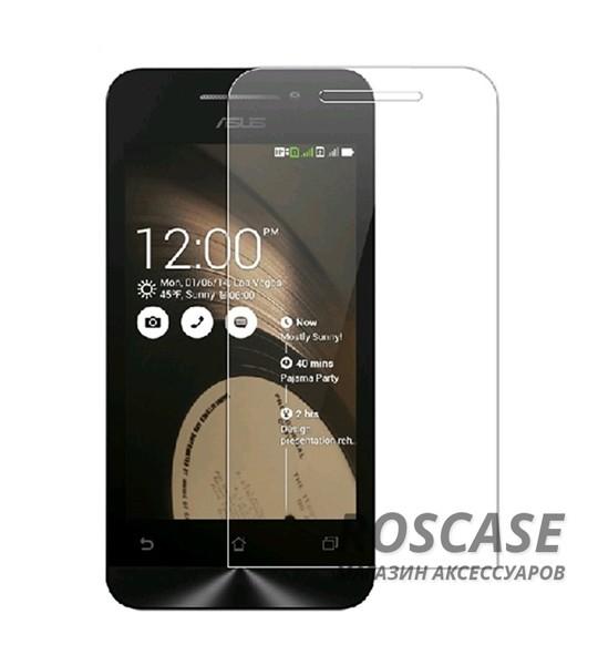 Защитное стекло Ultra Tempered Glass 0.33mm (H+) для Asus Zenfone 5 (A501CG) (карт. упак)Особенности:закругленные&amp;nbsp;грани стекла обеспечивают лучшую фиксацию на экране;стекло очень тонкое - 0,33 мм;отзыв сенсорных кнопок сохраняется;стекло не искажает картинку, так как абсолютно прозрачное;выдерживает удары и защищает от царапин;размеры и вырезы стекла соответствуют особенностям дисплея.<br><br>Тип: Защитное стекло<br>Бренд: Epik
