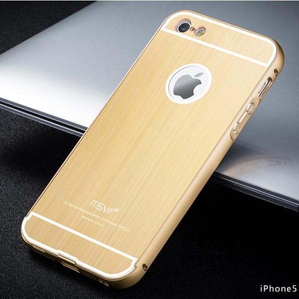 Металлический бампер с акриловой вставкой Msvii для Apple iPhone 5 (+стекло на экран) (Золотой)Описание:бренд Msvii;сделан для защиты Apple iPhone 5;материалы: металл, поликарбонат;тип чехла: бампер со вставкой.Особенности:ультратонкий дизайн - 1,8 мм;защита от механических повреждений;узор вставки - шлифованный металл;предусмотрены функциональные вырезы;легко устанавливается;стекло на экран в комплекте (закругленные грани 2.5D, олеофобное покрытие).<br><br>Тип: Чехол<br>Бренд: Epik<br>Материал: Металл