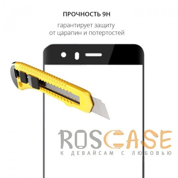 Фотография Черный Защитное стекло с цветной рамкой на весь экран для Huawei Honor 9