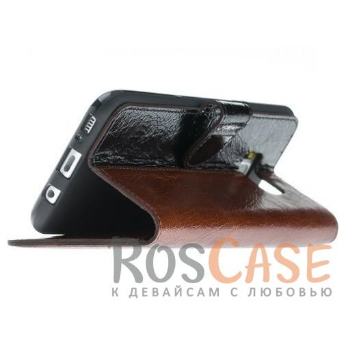 Фотография Двухцветный чехол-книжка из натуральной кожи с функцией подставки и отделением под карты и денежные купюры для Samsung Galaxy S8 (G950)