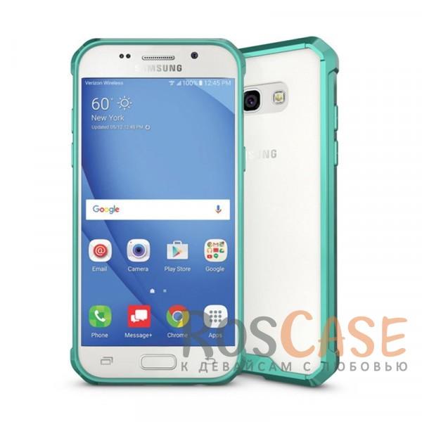 Противоударная прозрачная акриловая накладка с укрепленным бампером для защиты углов для Samsung A320 Galaxy A3 (2017) (Зеленый)Описание:формат чехла - накладка;защищает заднюю панель и боковые грани;противоударная конструкция;разработан для&amp;nbsp;Samsung A320 Galaxy A3 (2017);материалы - акрил, термополиуретан;предусмотрены все функциональные вырезы.<br><br>Тип: Чехол<br>Бренд: Epik<br>Материал: Пластик