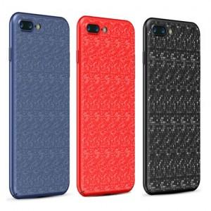 """Стильный защитный чехол-накладка Baseus Plaid с уникальным дизайном для Apple iPhone 7 plus / 8 plus (5.5"""")"""