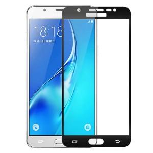Защитное стекло с цветной рамкой на весь экран для Samsung J510F Galaxy J5 (2016)