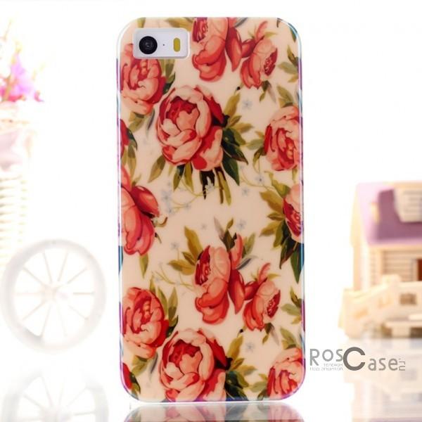 "фото TPU чехол IMD Print ""Pretty blooming Flowers"" для Apple iPhone 5/5S/5SE"
