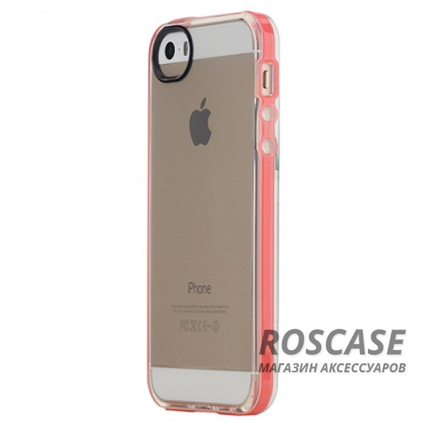 Фото Красный / Transparent Red TPU чехол ROCK Joyful Series для Apple iPhone 5/5S/SE