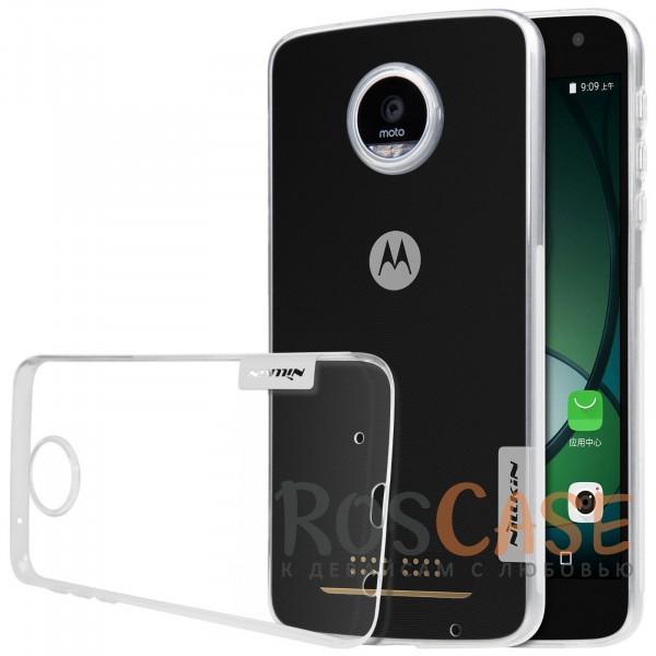 TPU чехол Nillkin Nature Series для Motorola Moto Z Play (Бесцветный (прозрачный))<br><br>Тип: Чехол<br>Бренд: Nillkin<br>Материал: TPU