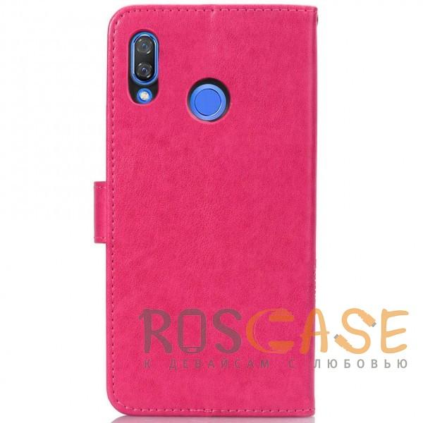 Изображение Розовый Чехол-книжка с узорами на магнитной застёжке для Huawei P Smart+ (nova 3i)