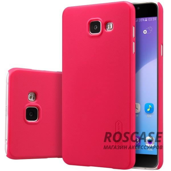 Nillkin Super Frosted Shield | Матовый чехол для Samsung A710F Galaxy A7 (2016) (+ пленка) (Красный)Описание:бренд:&amp;nbsp;Nillkin;спроектирован для Samsung A710F Galaxy A7 (2016);материал: поликарбонат;тип: накладка.Особенности:на нем не остаются отпечатки пальцев;защита от механических повреждений;матовая поверхность;не деформируется;пленка в комплекте.<br><br>Тип: Чехол<br>Бренд: Nillkin<br>Материал: Поликарбонат