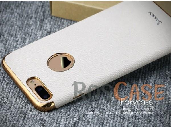 Кожаная накладка iPaky Chrome Series для Apple iPhone 7 plus (5.5) (Белый)Описание:производитель: iPaky;создана для&amp;nbsp;Apple iPhone 7 plus (5.5);материал изделия: искусственная кожа, хромированный пластик;конфигурация: накладка.Особенности:двухцветный дизайн;рельефная фактура;встроенная металлическая пластина;наличие всех функциональных вырезов;защита от царапин и ударов.<br><br>Тип: Чехол<br>Бренд: Epik<br>Материал: Искусственная кожа