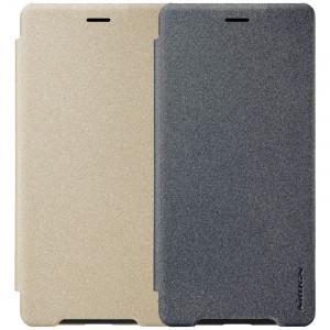Nillkin Sparkle | Кожаный чехол-книжка для Sony Xperia XZ2 Compact