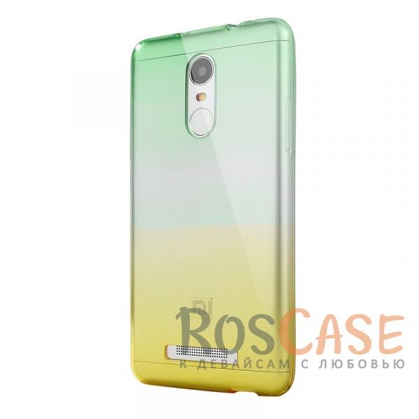 Прозрачный TPU чехол с цветным градиентом для Xiaomi Redmi Note 4 (Зеленый / Желтый)<br><br>Тип: Чехол<br>Бренд: Epik<br>Материал: TPU