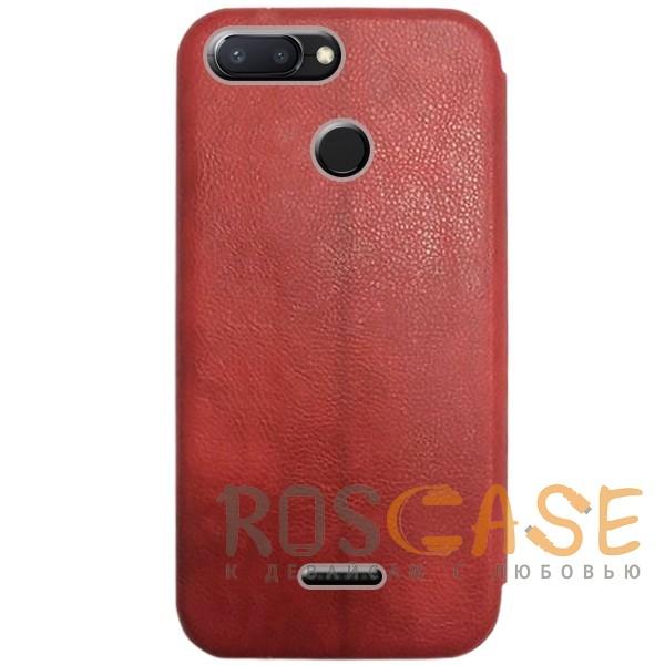 Изображение Красный Open Color 2 | Чехол-книжка на магните для Xiaomi Redmi 6 с подставкой и внутренним карманом