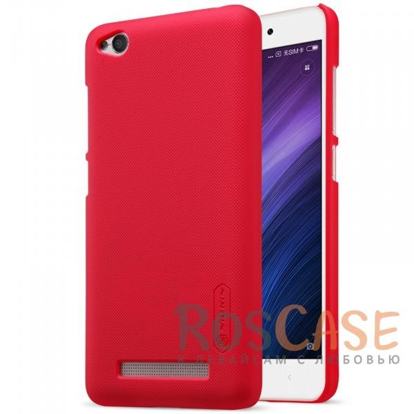 Чехол Nillkin Matte для Xiaomi Redmi 4a (+ пленка) (Красный)<br><br>Тип: Чехол<br>Бренд: Nillkin<br>Материал: Поликарбонат
