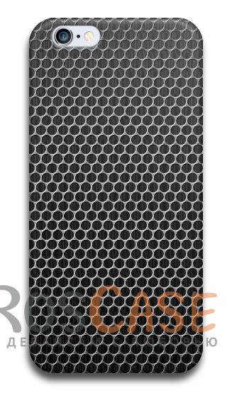 """Фото Carbon №3 Пластиковый чехол RosCase с 3D нанесением """"Карбон"""" для iPhone 4/4S"""