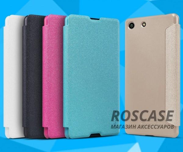 Кожаный чехол (книжка) Nillkin Sparkle Series для Sony Xperia M5 / Xperia M5 DualОписание:бренд -&amp;nbsp;Nillkin;совместим с Sony Xperia M5 / Xperia M5 Dual;материал - кожзам;тип: книжка.&amp;nbsp;Особенности:тонкий дизайн;не скользит в руках;блестящая поверхность;защита со всех сторон.<br><br>Тип: Чехол<br>Бренд: Nillkin<br>Материал: Искусственная кожа
