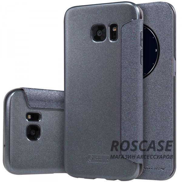 Кожаный чехол (книжка) Nillkin Sparkle Series для Samsung G935F Galaxy S7 Edge (Черный)Описание:бренд -&amp;nbsp;Nillkin;совместим с Samsung G935F Galaxy S7 Edge;материал: кожзам;тип: чехол-книжка.Особенности:защита от механических повреждений;не скользит в руках;интерактивное окошко Smart window;функция Sleep mode;не выгорает;тонкий дизайн.<br><br>Тип: Чехол<br>Бренд: Nillkin<br>Материал: Искусственная кожа