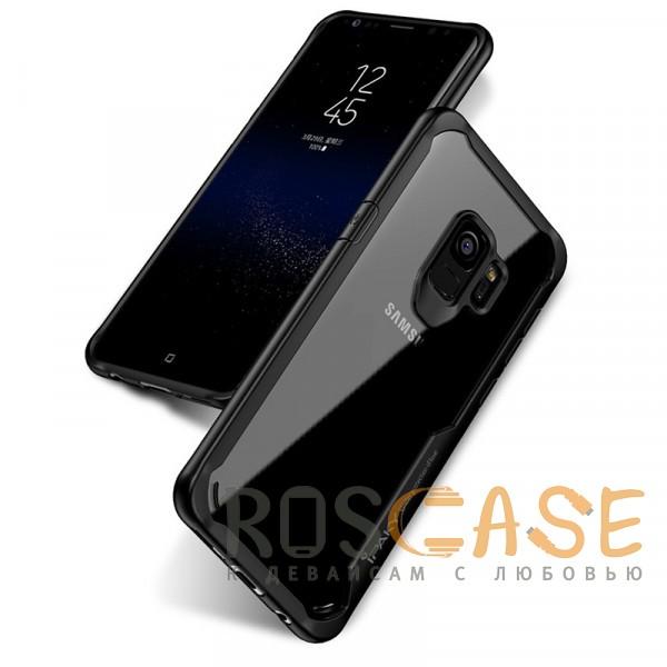 Фотография Черный iPaky Luckcool   Чехол для Samsung Galaxy S9 с цветными силиконовыми вставками