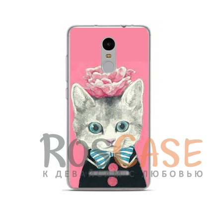 TPU чехол Sweet Art Animals для Xiaomi Redmi Note 4 (Кот)<br><br>Тип: Чехол<br>Бренд: Epik<br>Материал: TPU