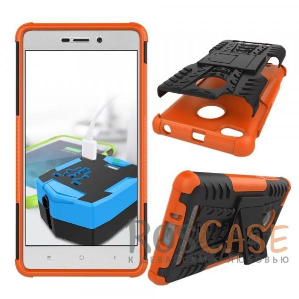 Противоударный двухслойный чехол Shield для Xiaomi Redmi 3 Pro / Redmi 3s с подставкой (Оранжевый)Описание:разработан специально для Xiaomi Redmi 3 Pro / Redmi 3s;материалы: поликарбонат, термополиуретан;тип: накладка.&amp;nbsp;Особенности:двухслойный;ударопрочный;оригинальный дизайн;стильный дизайн;в наличии все функциональные вырезы;функция подставки.<br><br>Тип: Чехол<br>Бренд: Epik<br>Материал: TPU