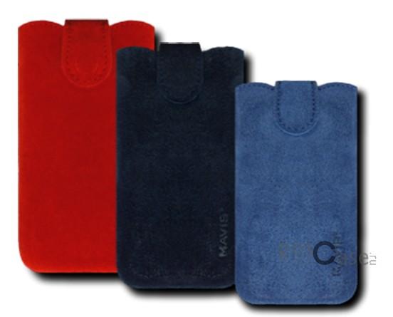 фото кожаный футляр Mavis Premium VELOUR 112x48/119x50 для Nokia X2-02/Samsung S5610