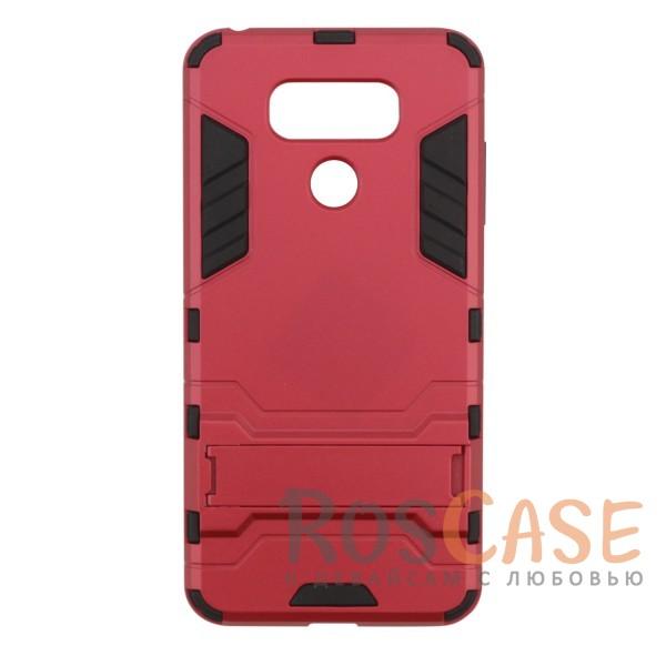Ударопрочный чехол-подставка Transformer для LG G6 / G6 Plus H870 / H870DS с мощной защитой корпуса (Красный / Dante Red)Описание:чехол разработан для LG G6 / G6 Plus H870 / H870DS;материалы - термополиуретан, поликарбонат;тип - накладка;функция подставки;защита от ударов;прочная конструкция;не скользит в руках.<br><br>Тип: Чехол<br>Бренд: Epik<br>Материал: Пластик