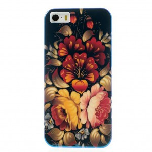 "TPU чехол IMD Print ""Blooming Flowers"" для Apple iPhone 5/5S/SE"