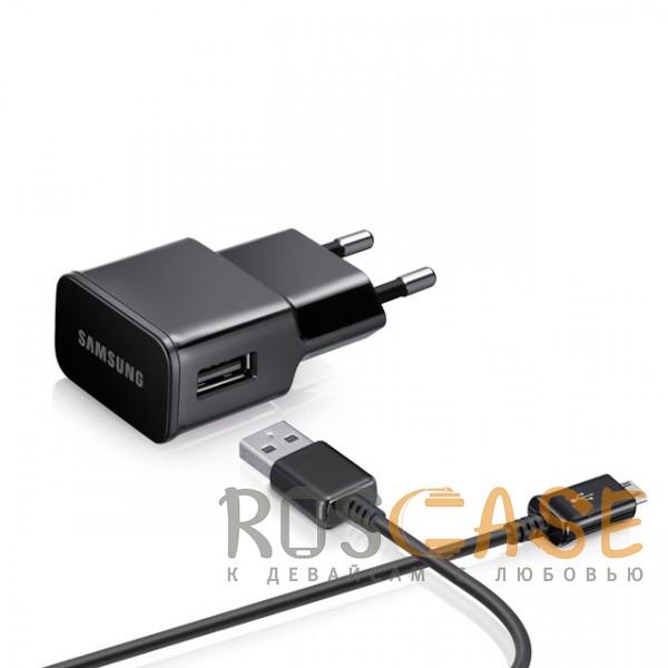 Фото Samsung | Сетевое зарядное устройство с кабелем microUSB в комплекте (100 см)