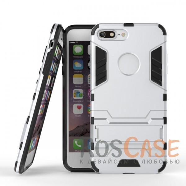 Ударопрочный чехол-подставка Transformer для Apple iPhone 7 plus (5.5) с мощной защитой корпуса (Серебряный / Satin Silver)Описание:подходит для Apple iPhone 7 plus (5.5);материалы: термополиуретан, поликарбонат;формат: накладка.&amp;nbsp;Особенности:функциональные вырезы;функция подставки;двойная степень защиты;защита от механических повреждений;не скользит в руках.<br><br>Тип: Чехол<br>Бренд: Epik<br>Материал: TPU