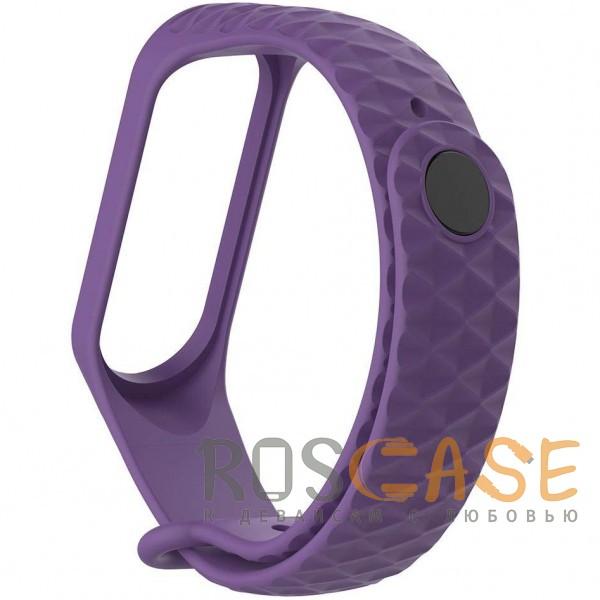 Фотография Фиолетовый Xiaomi Mi Band 3 | Цветной фактурный ремешок для фитнес-браслета