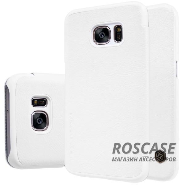 Кожаный чехол (книжка) Nillkin Qin Series для Samsung G930F Galaxy S7 (Белый)Описание:производитель:&amp;nbsp;Nillkin;совместим с Samsung G930F Galaxy S7;материал: натуральная кожа;тип: чехол-книжка.&amp;nbsp;Особенности:ультратонкий;фактурная поверхность;не скользит в руках;стильный дизайн;внутренняя отделка микрофиброй.<br><br>Тип: Чехол<br>Бренд: Nillkin<br>Материал: Натуральная кожа