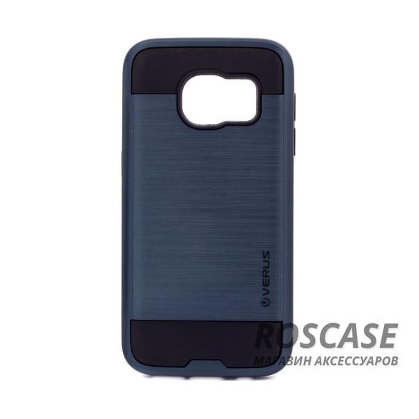 Двухслойный ударопрочный чехол с защитными бортами экрана Verge для Samsung G930F Galaxy S7 (Синий)Описание:бренд - Verge;разработан для&amp;nbsp;Samsung G930F Galaxy S7;материал - термополиуретан, поликарбонат;тип - накладка.&amp;nbsp;Особенности:защита от ударов;не препятствует работе со смартфоном;не скользит в руках;высокие бортики защищают экран;надежное крепление;укрепленная конструкция.<br><br>Тип: Чехол<br>Бренд: Epik<br>Материал: TPU